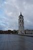 Der Glockenturm von der Kathedrale St. Stanislaus und St. Ladislaus