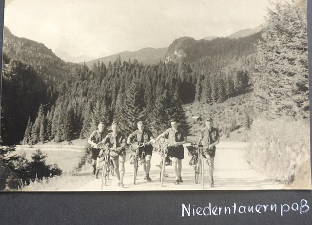 Jugoslawien - Radtour - 4.8. - 17.9.1955 -  Radstädter Tauernpass (1738 m)