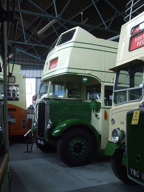 DSCF8749 Former Southern Vectis DDL 50 and YWG 109 (FLJ 538) at the Isle of Wight Bus and Coach Museum - 6 July 2017