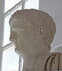 Detail of the Sculpture of Claudius from Herculaneum in the Naples Archaeological Museum, July 2012