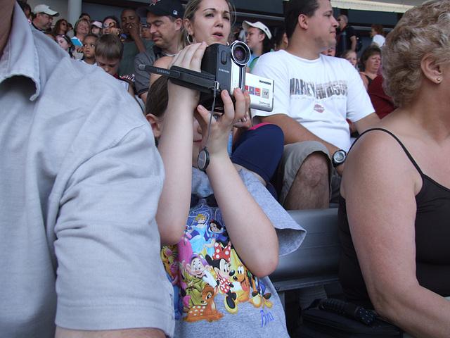 Phoebe enjoying the show - Disney SeaWorld Florida April 2006