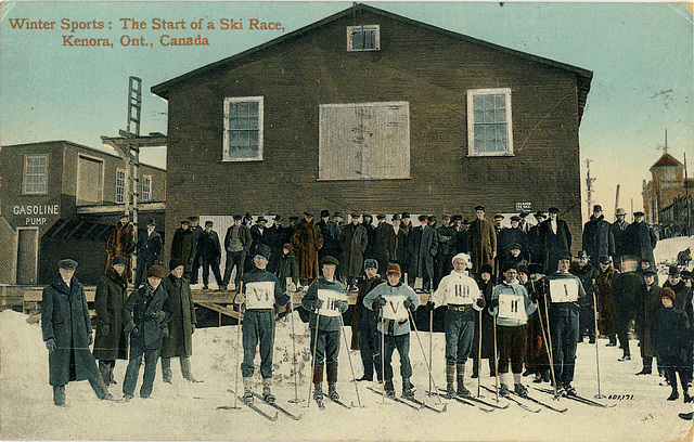 6133. Winter Sports: The Start of a Ski Race, Kenora, Ont., Canada