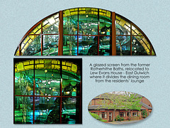 Lew Evans House - stained glass screen - 24.11.2007