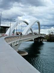 Lyon (69) Pont Raymond Barre. 10 mars 2019.