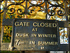 gate closed early in autumn