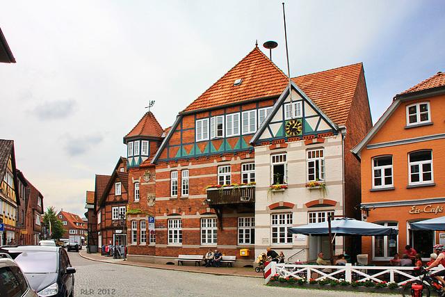 Hitzacker, Markt mit Altem Rathaus
