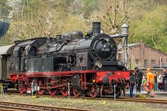 78 468 (Preußische T 18) der Eisenbahnfreunde Lengerich beim Wasser fassen