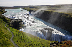 Gullfoss, der gigantische isländische Wasserfall - Gullfoss in Iceland, one of the most unique waterfalls in the world