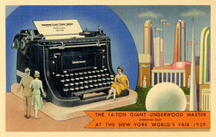 A Giant Underwood Typewriter at the New York World's Fair, 1939