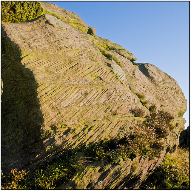 Wind erosion on Roaches rock face