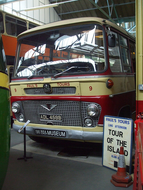 DSCF8757 Former Paul's Tours ADL 459B at the Isle of Wight Bus and Coach Museum - 6 July 2017