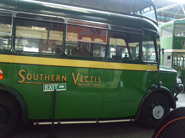 DSCF8758 Former Southern Vectis DL 9015 at the Isle of Wight Bus and Coach Museum - 6 July 2017