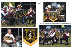 Seaford Silver Band - rousing march to open their concert - Mayor's Charities Festival 2021