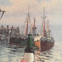 La petite bouteille de Porto et le tableau
