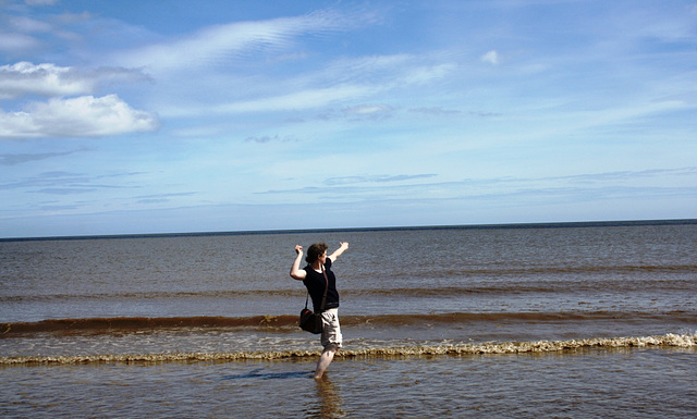 Throwing Messages in Bottles into the Sea in Mablethorpe