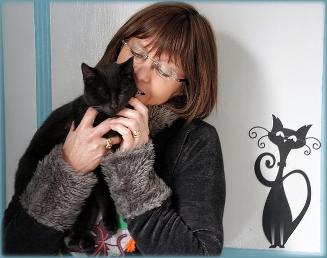 La dame aux chats !