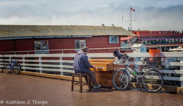 Monterey, California Fisherman's Wharf musician