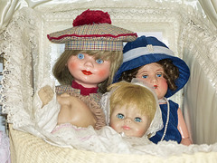 Old dolls, Pioneer Acres Museum, Alberta