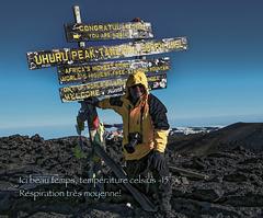 Le sommet du Kilimandjaro...