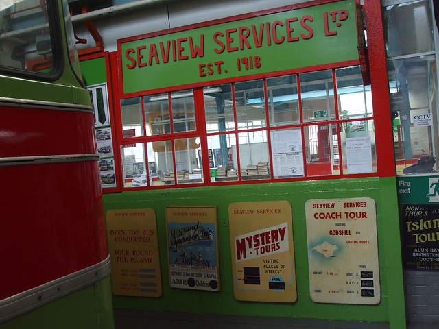 DSCF8762 Seaview Services display at the Isle of Wight Bus and Coach Museum - 6 July 2017
