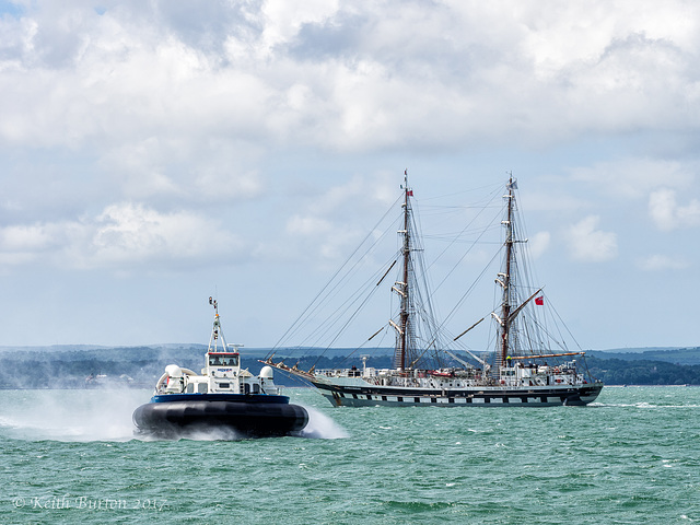 Tall Ship and Hovercraft