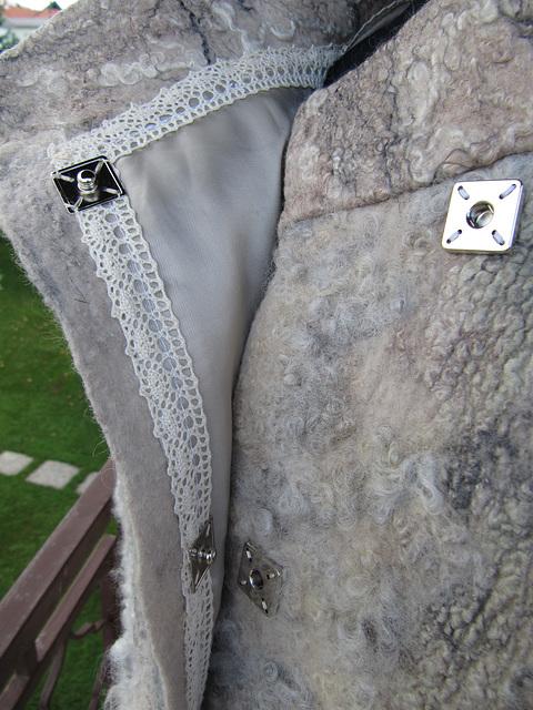 winter jacket with romney fleece