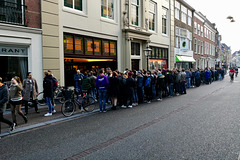 Queue in front of the cinema