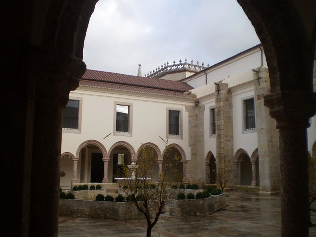 Glimpse into the cloister.