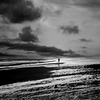 alone at low tide