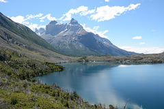 Chile, Lake Skottsberg and Cordillera Paine