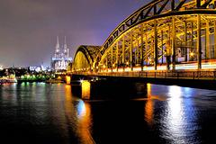 Dom mit Hohenzollernbrücke, Köln