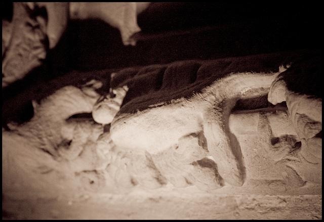 Rosslyn Chapel - wall detail