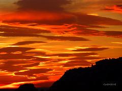 coucher de soleil sur Les Baux
