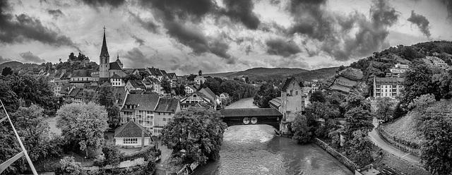 Regenwetter in Baden, AG, Switzerland