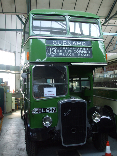 DSCF8768 Former Southern Vectis EDL 657 at the Isle of Wight Bus and Coach Museum - 6 July 2017
