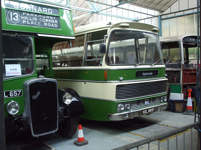 DSCF8771 Former Southern Vectis vehicles at the Isle of Wight Bus and Coach Museum - 6 July 2017