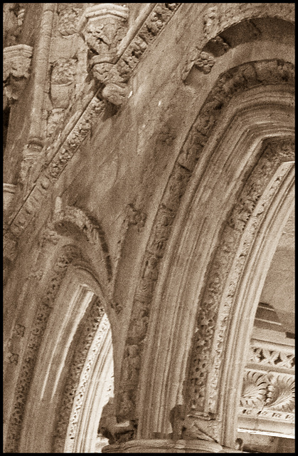 Rosslyn Chapel - arch detail