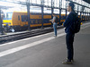 Waiting for a train at Haarlem