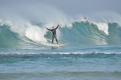Netanya, Surfer on the Wave