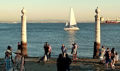 Evening sail, Lisbon