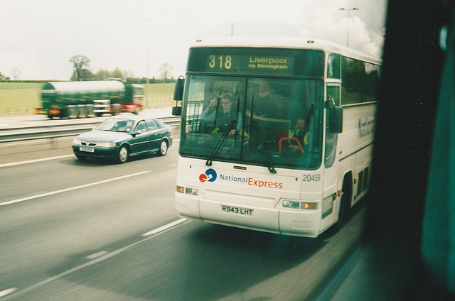 First R943 LHT on the M6 Motorway - 4 May 2004