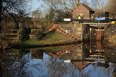 Repair work to Aston lock 3