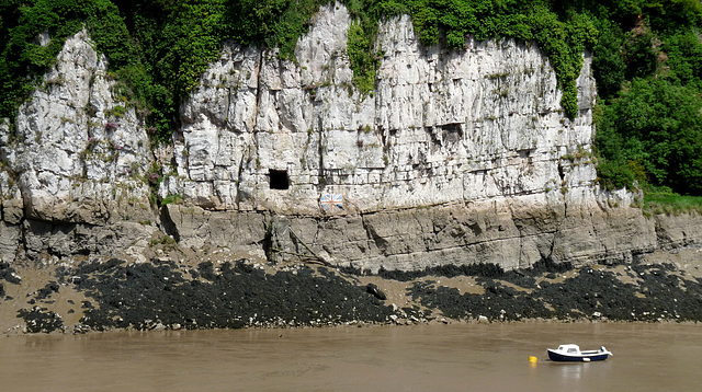 Chepstow- Limestone Cliffs by the River Wye