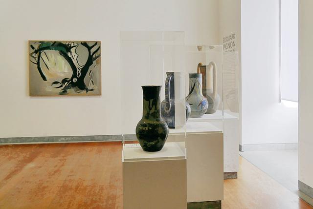 """L'olivier noir"" (1952) et vases (Edouard Pignon)"