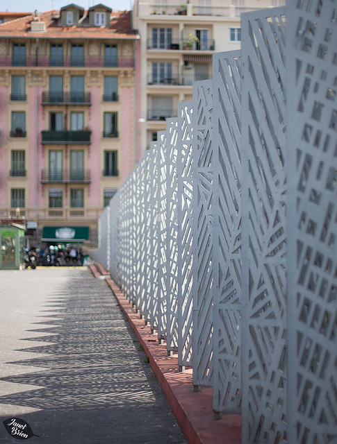 Pictures for Pam, Day 146: HFF: Cool Fence in Nice, France (+10 insets!)