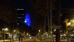 Avinguda Diagonal mit Torre Agbar