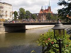Młyńskie Bridge, over River Oder.
