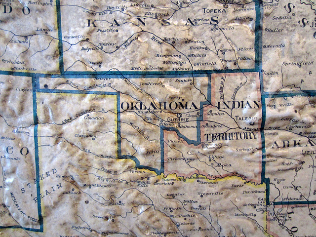 Indian Territory on 1892 Map at Coachella Valley History Museum (2610)