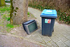 Outside television and wheely bin
