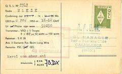 QSL CN8MM AAEM stamp